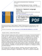 L2 Morphosyntactic Development in Text-Based Computer-Mediated Communication