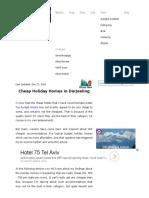 Cheap Holiday Homes in Darjeeling