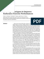 Training Techniques to Improve Endurance Exercise Performances