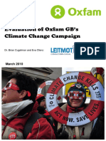 Evaluation of Oxfam GB's Climate Change Campaign