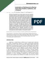 Adsorption characterisitics of Norfloxacin by Biochar