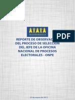 Reporte de Observación Selección Jefe ONPE