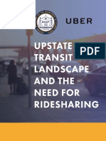 Upstate Transit Landscape and The Need For Ridesharing
