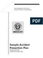 Sample Accident Prevention Plan