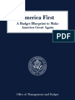 President Trump's America First - A Budget Blueprint to Make America Great Again