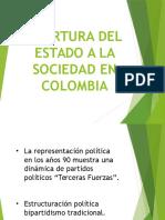 Apertura Del Estado a La Sociedad en Colombia