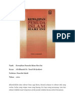 (Rumusan) Kewajiban Pemuda Islam Hari Ini_Dr. Yusuf Al-Qardawi