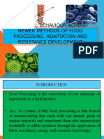 Microbial Behaviour Against Newer Methods of Food Processing