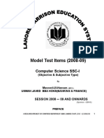 Ssc i Computer Science NOTES by Usman Javed