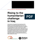 Rising to the Humanitarian Challenge in Iraq