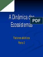 Dinâmica Dos Ecossistemas - Factores Abióticos_Parte2_CN8ano