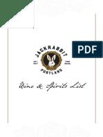 Jackrabbit Wine and Spirits List, 3.17.17