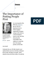 The Importance of Putting People First