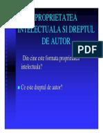 Mircea Regneala-Proprietatea Intelectuala Si Dreptul de Autor