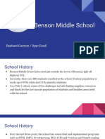 benson middle school project