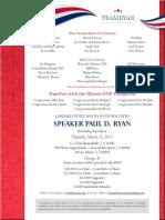 Paul Ryan Invite
