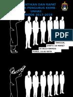 PAMFLET PELANTIKAN KKMB-UNHAS PERIODE 2017-2018 BY RUDI FT-UH 14
