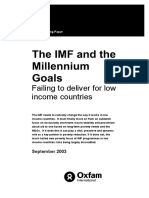 The IMF and the Millennium Development Goals