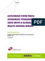 Exploring Food Price Scenarios Towards 2030 With a Global Multi-Region Model