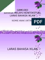 Gbm 1083 Laras Bahasa Iklan