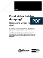 Food Aid or Hidden Dumping? Separating wheat from chaff