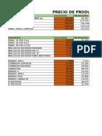 Precio de Productos Noviembre 16 Hasta 20%