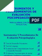 ALGUNOS Instrumentos y Procedimientos de Evaluación