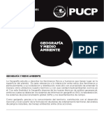 Geografía y Medio Ambiente PUCP - Plan de Estudios