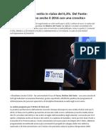 Terna Matteo Del Fante «Chiudiamo Anche Il 2016 Con Una Crescita»