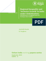 Regional Inequality and 'Inclusive Growth' in India under Globalization
