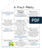 math fact menu - google docs
