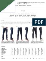 Guia de medidas para jeans