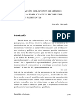 EDUCACIÓN, RELACIONES DE GÉNERO Y SEXUALIDAD