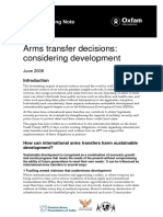 Arms Transfer Decisions