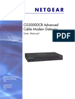 Netgear CG3000DCR User Manual (Comcast)