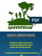 Presentation on Green Peace and Friends of Earth