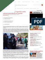 Desplegado_ ¡Alto a La Represión Contra Colonias Antorchistas en Cancún! • Movimiento Antorchista Nacional
