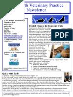 Whitworth Veterinary Practice Ltd Newsletter Spring 2017