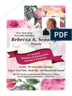 Seawright Women of Distinction Awards Ceremony Booklet