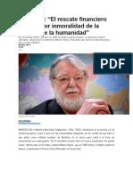 Rescate Financiero Es Inmoral, Max-Neef