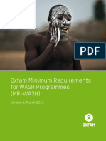 Oxfam Minimum Requirements for WASH Programmes