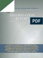 OIG - WAPA Information Report