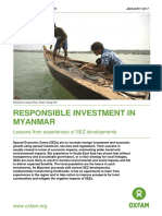 Responsible Investment in Myanmar