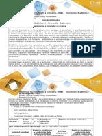 Guía de actividades  y rúbrica de evaluación - unidad 1 - fase 2 - intermedio - exploración