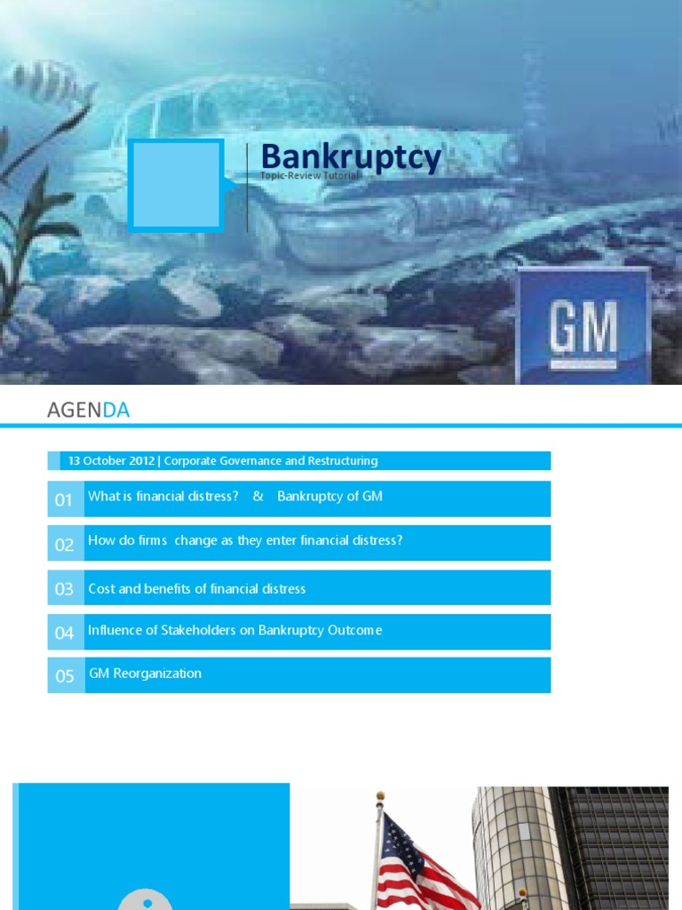 Bankruptcy Presentation with example/case GM   General