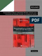 RESUMO - Transparência Pública, Opacidade Privada, Túlio Vianna (2007)