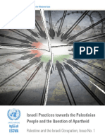 UN ESCWA report on Israeli apartheid