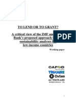 To Lend or to Grant?