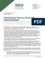 Frisco ISD Superintendent Dr. Jeremy Lyon announces retirement