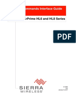 AirPrime HL6 and HL8 Series at Commands Interface Guide